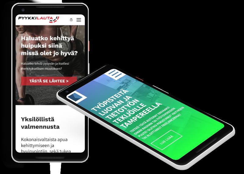 Mobiilissa toimivat kotisivut yritykselle